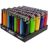 50 Accendini BIC J25 a colori con pietrina