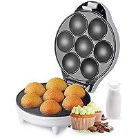 Aigostar Popcaker Silver 30CET - Appareil pour faire des popcakes, cupcakes et madeleines. Capacité pour 7 popcakes par…