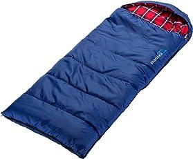 skandika outdoor Dundee Junior Schlafsack, Blau/Rot, L