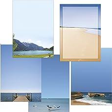 Berge - Wasser - Meer Briefpapier-Mix 50 Blatt 5x10 Blatt DIN A4 90 g/m²