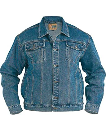 Mens Duke Denim Jacket 3XL, 4XL, 5XL, 6XL Cotton Blue: Amazon.co ...