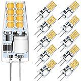 AGOTD G4 Ledlampen - 3W Ledlampen Vervangt 30W halogeenlampen, 3000K warm wit 250lm 12V AC/DC niet-dimbare LED-lampen, G4 LED