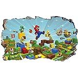 Chicbanners Super Mario Brothers V962 3D Muur Crack Muursticker Zelfklevende Poster Muur Art Size 1000mm breed x 600mm diep (