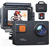 APEMAN Action Cam A87, Touch Screen 4K/60FPS 20MP WiFi Telecomando Impermeabile 40M 8XZoom Fotocamera Subacquea, Gyro Stabili