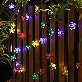 guirnalda luces exterior solar EC Technology luces decorativas exterior 22 pies lucessolaresexterior 50 led de luz impermea