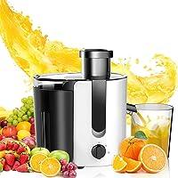 Aigostar Grape 30JDA – Extracteur centrifugeuse de jus de fruits et légumes frais 100% sans BPA. 400 W, moteur à deux…
