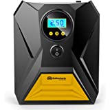GoMechanic Gusto T10 Digital Tyre Inflator - 150 psi, 12V DC Portable Air Compressor with LED Light
