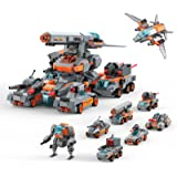 Henoda Vehicles Construction Transformers Toys for 5 6 7 8 9 10 Years Old Boys and Girls, 8-in-1 STEM Educational Building Bl