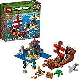 LEGO 21152 Minecraft LaAventuradelBarcoPirata, Juguete de Construcción