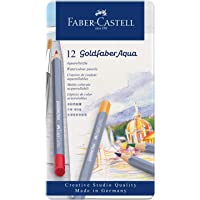 Faber-Castell 114612 Aquarellstifte Goldfaber, 12er Metalletui
