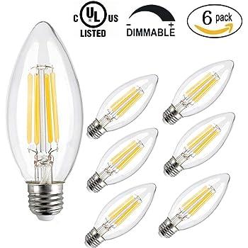 CMYK® 4W E27 Bombilla LED, incandescente equivalente 360 lumen, 2700K, 330°, 220V, 6 Unidades