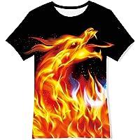 ALISISTER Ragazzo Ragazze T Shirt Divertente 3D Stampata Manica Corta Maglietta per Bambini 6-16 Anni