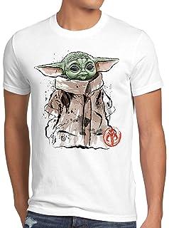 Dagobah Baby T-Shirt per Bambini e Ragazzi Yoda Mando Serie Televisiva A.N.T