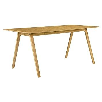 [en.casa] Esstisch Bambus 180x80cm Esszimmer Küche Design: Amazon.de: Küche  U0026 Haushalt