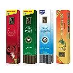 Zed Black Premium Bamboo Incense Sticks of Attar Rajnigandh and Phool, Manthan Gold 100 and Deep Gulab, Standard