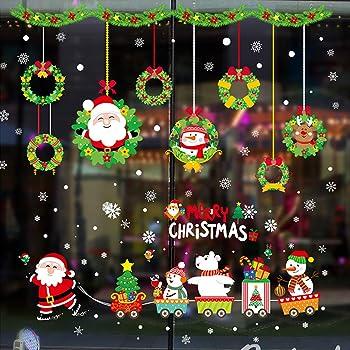 Vetrofanie natalizie per finestre natale vetrofanie decorazione della natale adesivi home - Vetrofanie per finestre ...