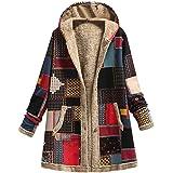 Abrigo De Invierno Mujer Libre Abrigos para Mujer Rebajas Talla Grande Abrigo con Capucha De Manga Larga Vintage Cremallera S