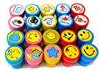 Oytra Stamps for Kids | Set of 20 | 10 Emoji and 10 Motivation | Pencil Top | Gift for Teachers, Students and Parents