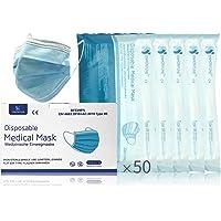 [50 Stück] medizinische Einweg OP-Maske - Mund und Nasenschutz Gesichtsmaske