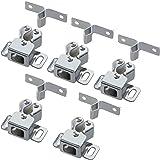 Gedotec dubbele roldeurvangers van staal incl. tegenhanger | veervergrendeling gegalvaniseerd staal | meubelvangers instelbaa