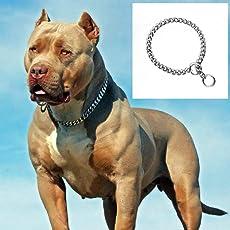 PnM Chrome Plated Dog Choke Chain Dog Collar Chain Choke Chain Training Collar Training Chain - 22 Inch Collar / 2 cm Thick