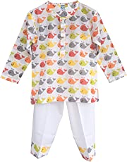Frangipani Unisex Cotton Whale WatchingPyjama Set