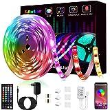 Ruban à Led, L8star Led Ruban 5m Intelligent Bande Lumineuse Led 5050 RGB SMD Multicolore Bande LED Lumineuse avec Télécomman