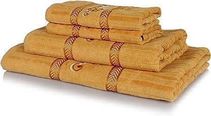 Rangoli Gavik 340 GSM Fancy Towel Set of 4 PC for A Perfect Gift.