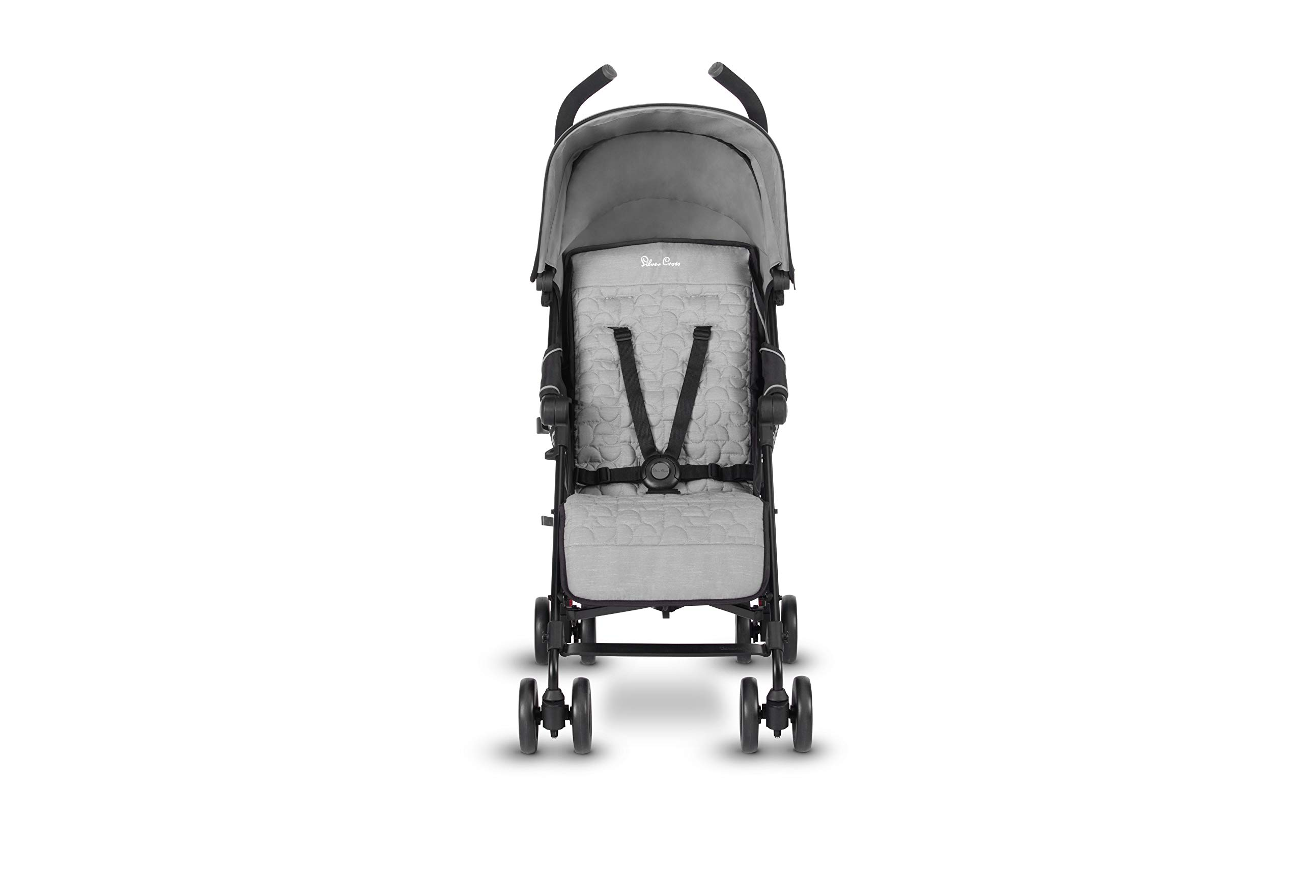 Silver Cross Zest Silver Silver Cross Ultra lightweight zest pushchair, weighing in at only 5.8kg, is suitable from birth up to 25kg It has a convenient one-hand fold, while the compact design makes it easy to store The fully lie-flat recline is best in its class 4