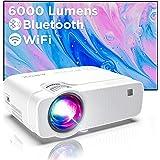 Proiettore Wifi, Mini Videoproiettore Portatile, Luminosità 6000, Supporta 1080p Full HD 300'', ABOX Proiettore Wifi Compatib