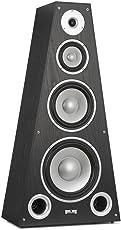 auna SP-800 • HiFi-Lautsprecher • Lautsprecher-Box • HiFi-Box • 4-Wege-Technik • 20Hz bis 20 kHz Frequenz • 89 dB Empfindlichkeit • 6 Ohm Impedanz • Pyramidenform • max. 330 W • Holzgehäuse • schwarz
