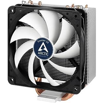 Arctic Freezer 33 – Dissipatore di processore semi-passivo con ventola da PWM 120 mm per Intel 115X/2011-3 e AMD AM4 | Dissipatore per CPU con potenza di raffreddamento fino a 150W TDP – Nero/Grigio