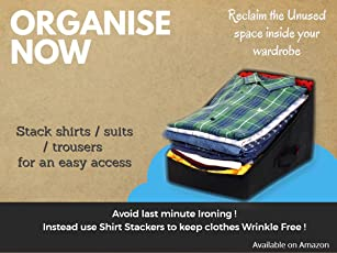 PrettyKrafts Shirt Stacker - Closet Organizer - Shirts and Clothing Organizer - Rimples