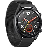 Stainless Steel Loop Strap Wrist Band For Smart Watch Huawei GT2 / GT - Space Black