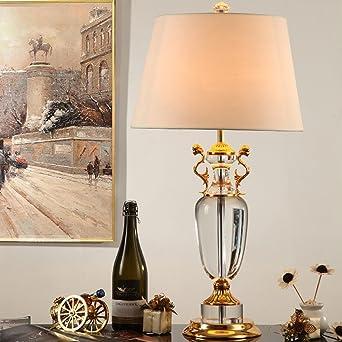 LuxuriseModerneModeTischleuchte European Style Dekorative Tischleuchten Wohnzimmer Studie Schreibtischlampe Kreative Kristall A