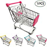 WuLi77 Mini Supermarket Pretend Play Shopping Trolley Toy for Kids,Utility Shopping Cart Storage Basket Shop Accessories for Kids Boys and Girls