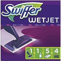 Swiffer WetJet Balai Lave Sol avec Spray, Kit de Démarrage avec 1 Balai Spray +5 Lingettes +1 Solution Nettoyante…