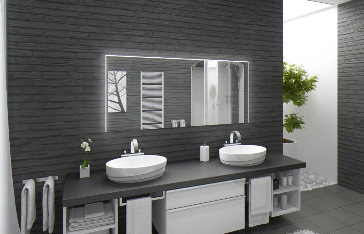 badezimmer beleuchtung wand popa spiegel licht fhrte badezimmer spiegel licht bad wand lampe. Black Bedroom Furniture Sets. Home Design Ideas