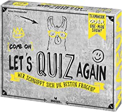 moses. Verlag GmbH 90136 (Come on) Let's Quiz Again   Wer Schnappt Fragen   Quizspiel ab 12 Jahren, Mehrfarbig