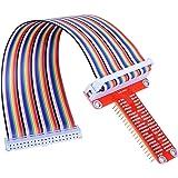 ARCELI Carte d'extension RPi GPIO Breakout + Câble Ruban + Adaptateur GPIO Type T assemblé 20cm FC40 Câble Ruban Plat 40…