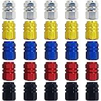 FineGood 25 pcs Plastique Bouchons de valve, bouchons de valve de pneu de voiture, moto, camion, vélo, vélo pour éviter…
