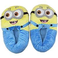 Elves & Co Unisex Minion Plush Slippers 2, Free Size (Yellow, MinPSLIPPERS2)