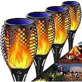 Tooklanet Lumières Flamme Solaire Lampe Torche de Jardin Marche/Arrêt Automatique Étanche IP65 avec de Effet Flamme Solaire E