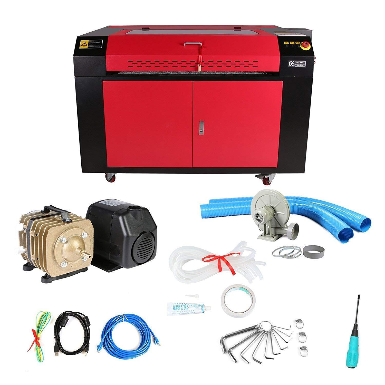 Anhon 100 Watt CO2 Laser Lasergravierer Gravur Schneidemaschine Mit Farbe Bildschirm 900X600mm O Metallparkde