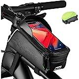 ROCKBROS Borsa Telaio Bicicletta Borsa Impermeabile Manubrio per Bici MTB BMX Support Cellulare TPU Touchscreen 6.5 Inches Co