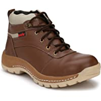 Kavacha Pure Leather Steel Toe Safety Shoe, S47 Size : 6