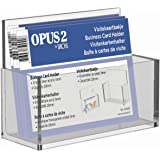 OPUS 2 Porte carte de Visite, pour cartes format 55x95mm, Capacité 20mm, 350090, acrylique transparent