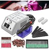 HG® ponceuse à ongles Machine Manucure Pédicure Professional Polissoir Nail Drill électrique 20000 TPM Kit de ponceuse pour ongles Salon à l'usage professionnel et domestique.