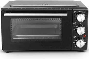 VonShef 13L Mini Backofen & Grill – 1000W – kompakt/klein/ tragbar – Max. 230°C – Zum Grillen, Backen & Braten – 60 Min. Timer