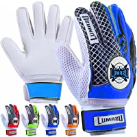 LUMAZU Kids Junior Goalkeeper Gloves, Boys and Girls Training Gloves with Double Wrist Protection and Non-slip Wear…
